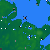 Nearby Forecast Locations - Bay of Kiel - Map