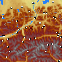 Nearby Forecast Locations - Wildschönau - Map