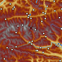 Nearby Forecast Locations - Heiligenblut am Großglockner - Map