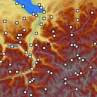 Nearby Forecast Locations - Bludenz - Map
