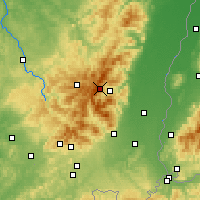 Nearby Forecast Locations - Vosges - Map