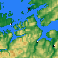 Nearby Forecast Locations - Ørland - Map