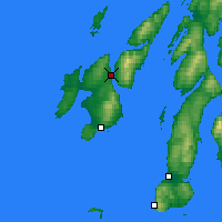 Nearby Forecast Locations - Port Askaig - Map