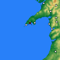 Nearby Forecast Locations - Llŷn Peninsula - Map