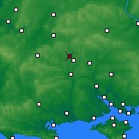 Nearby Forecast Locations - Stonehenge - Map