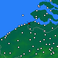 Nearby Forecast Locations - Cadzand - Map