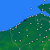 Nearby Forecast Locations - De Haan - Map