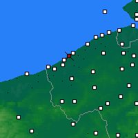 Nearby Forecast Locations - Middelkerke - Map