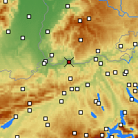 Nearby Forecast Locations - Möhlin - Map