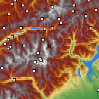 Nearby Forecast Locations - Saas-Fee - Map