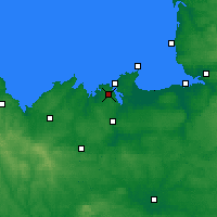 Nearby Forecast Locations - Dinard - Map