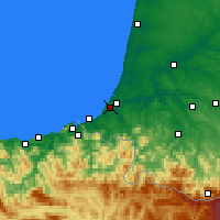 Nearby Forecast Locations - Biarritz - Map