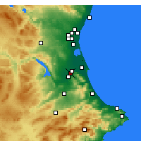 Nearby Forecast Locations - Alzira - Map