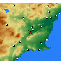 Nearby Forecast Locations - Alcantarilla - Map