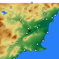 Nearby Forecast Locations - Murcia - Map