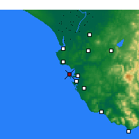 Nearby Forecast Locations - Cádiz - Map