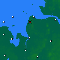 Nearby Forecast Locations - Nordholz - Map