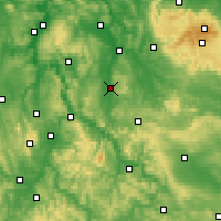Nearby Forecast Locations - Göttingen - Map
