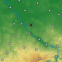 Nearby Forecast Locations - Großenhain - Map