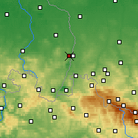 Nearby Forecast Locations - Görlitz - Map