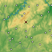 Nearby Forecast Locations - Idar-Oberstein - Map