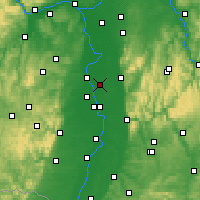 Nearby Forecast Locations - Lampertheim - Map