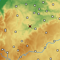 Nearby Forecast Locations - Waibstadt - Map