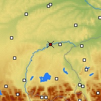 Nearby Forecast Locations - Mühldorf - Map