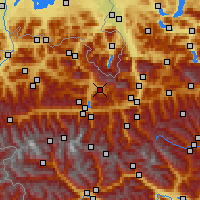 Nearby Forecast Locations - Maria Alm - Map