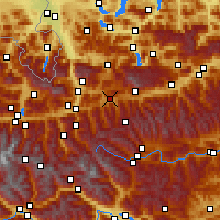 Nearby Forecast Locations - Radstadt - Map