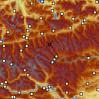 Nearby Forecast Locations - Obertauern - Map