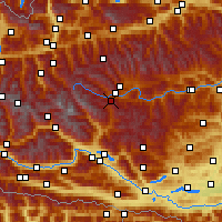 Nearby Forecast Locations - Katschberg - Map