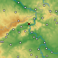 Nearby Forecast Locations - Ústí nad Labem - Map