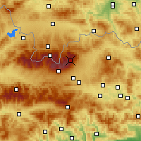 Nearby Forecast Locations - Lomnický štít - Map