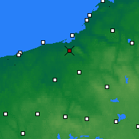 Nearby Forecast Locations - Koszalin - Map
