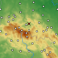 Nearby Forecast Locations - Jelenia Góra - Map