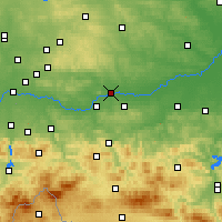 Nearby Forecast Locations - Kraków - Map