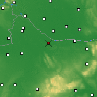 Nearby Forecast Locations - Győr - Map