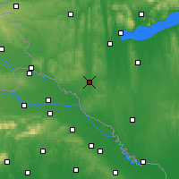 Nearby Forecast Locations - Nagykanizsa - Map