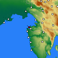 Nearby Forecast Locations - Portorož - Map