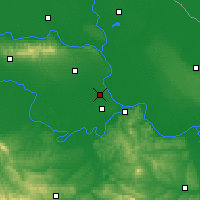 Nearby Forecast Locations - Batajnica - Map