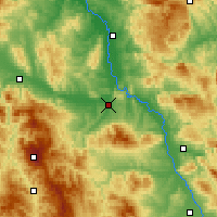 Nearby Forecast Locations - Kruševac - Map