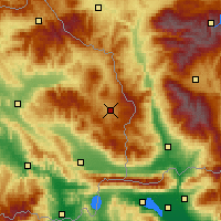 Nearby Forecast Locations - Berovo - Map