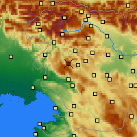 Nearby Forecast Locations - Vojsko - Map