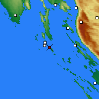 Nearby Forecast Locations - Mali Lošinj - Map