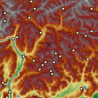 Nearby Forecast Locations - Seiser Alm - Map