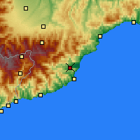 Nearby Forecast Locations - Albenga - Map
