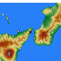 Nearby Forecast Locations - Messina - Map