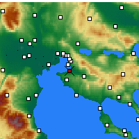 Nearby Forecast Locations - Thessaloniki - Map