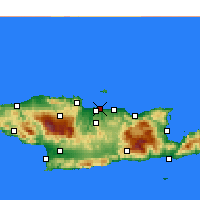 Nearby Forecast Locations - Heraklion - Map